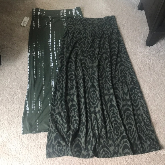 d34809c0b8f2 jcpenney Skirts | Jcp Mossimo Set Of 2 M Green Maxi | Poshmark
